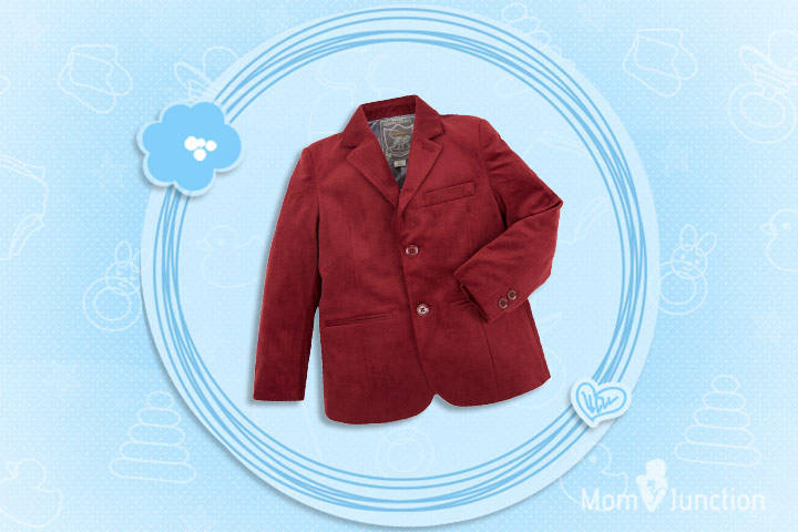 Christmas Outfits For Kids - Aaron Velvet Jacket