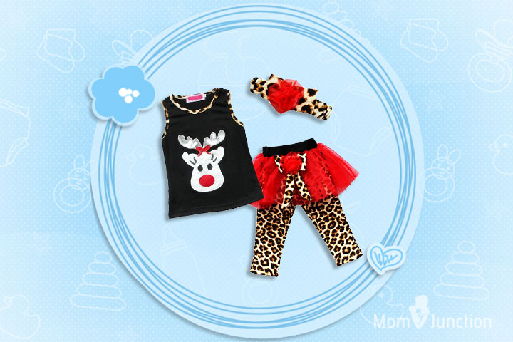 Christmas Outfits For Kids - Baby Girls Christmas Deer Outfit