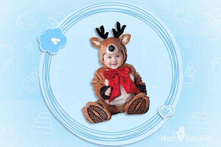 Baby Reindeer Rudolph Costume  sc 1 st  MomJunction & 25 Cute Christmas Outfits For Babies