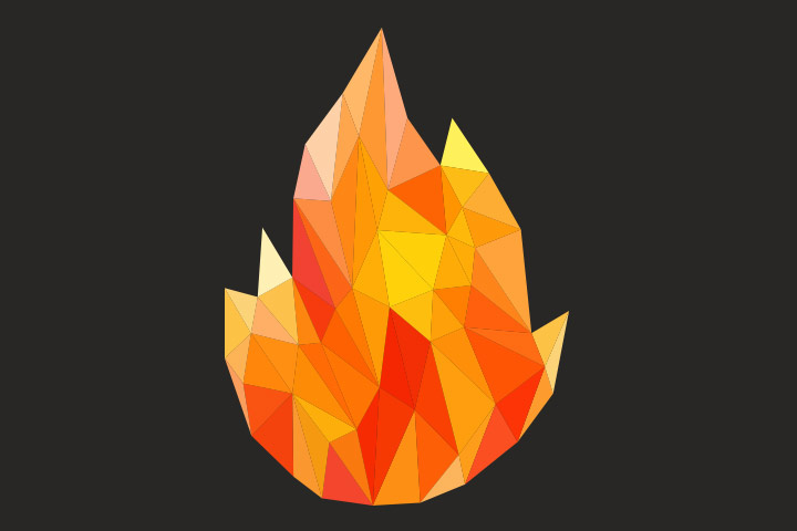 Collage Ideas For Kids - Bonfire Collage