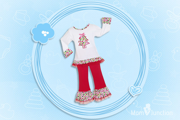 Christmas Outfits For Kids - Boutique Polka Dot Christmas Tree Holiday Outfit
