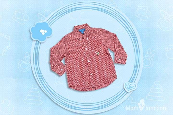 Christmas Outfits For Kids - Boys Button Down Shirt With Embroidery Reindeer