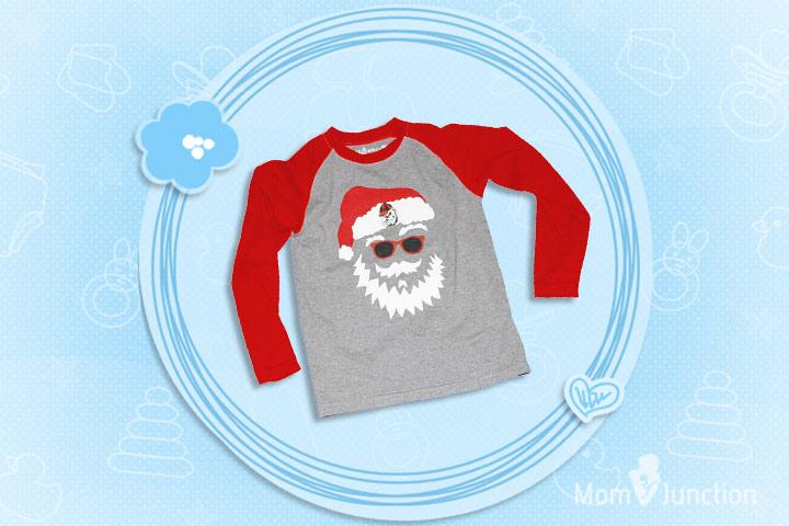 Christmas Outfits For Kids - Boys Santa Claus Shirt - Univ. of Georgia UGA Bulldogs