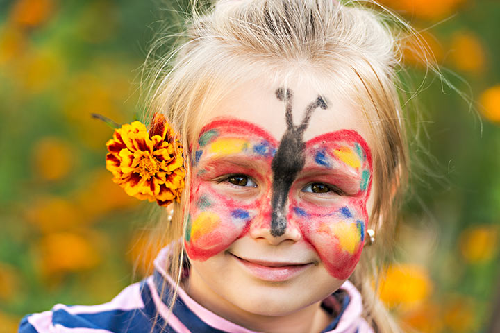 Butterfly Face Painting Designs For Kids