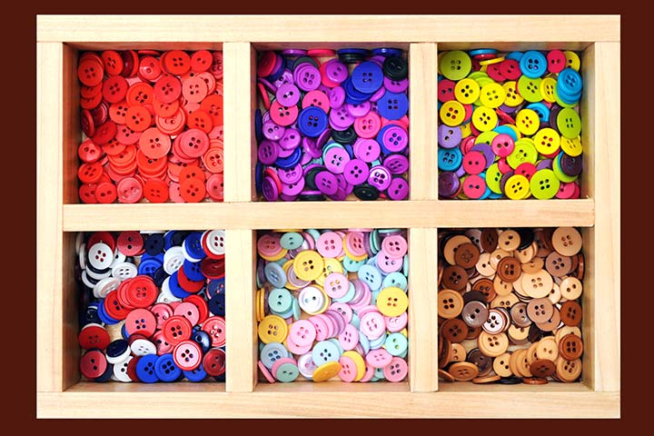 Button Crafts For Kids - Button Wall Art