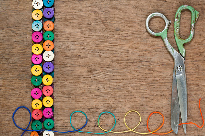 Button Crafts For Kids - Button Wrist Band