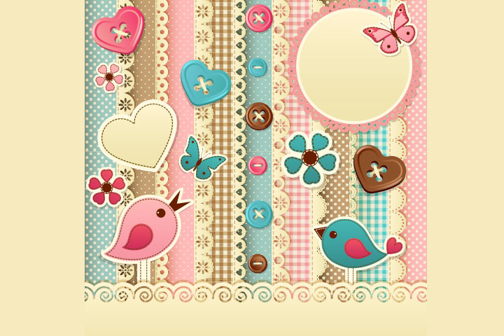 Button Crafts For Kids - Buttons Scrapbook Cover
