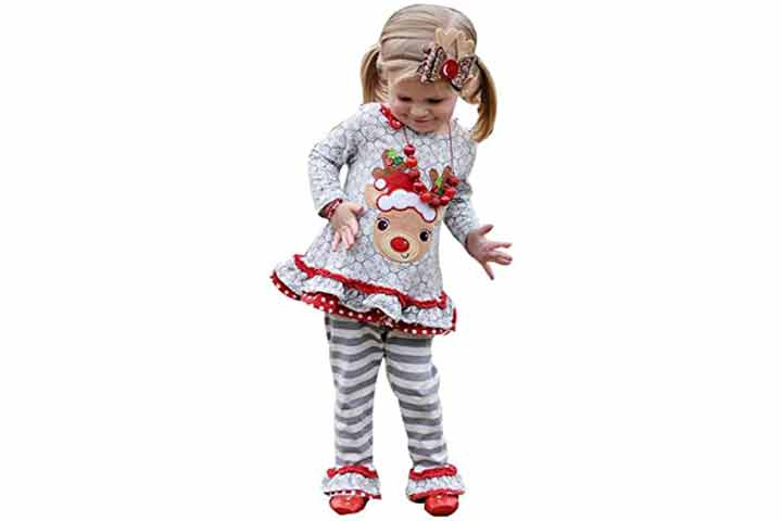 C&M Wodro Girl's Christmas Outfits