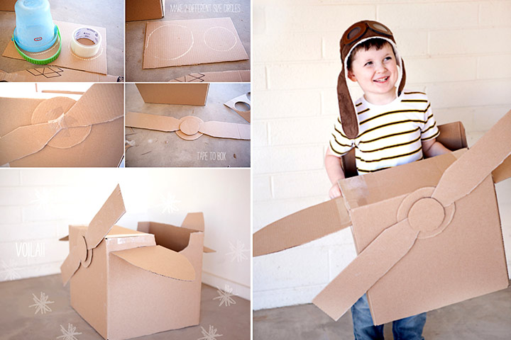 Cardboard Box Crafts For Kids - Cardboard Airplane