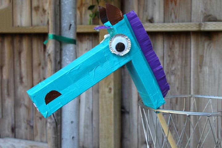 Cardboard Box Crafts For Kids - Cardboard Box Horse