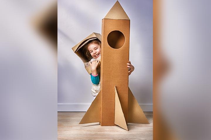 Cardboard Box Rocket
