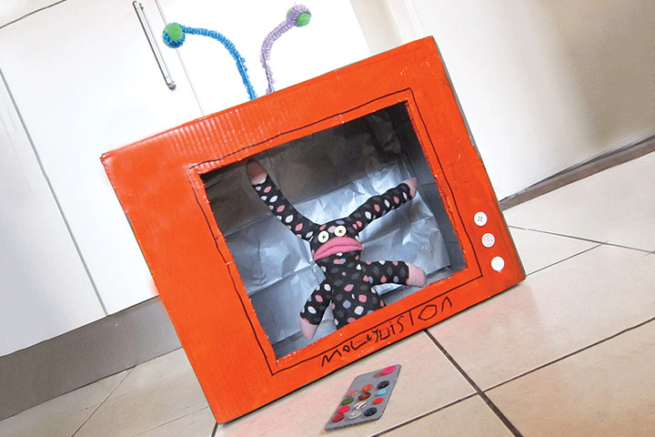 Cardboard Box Crafts For Kids - Cardboard Box Telly