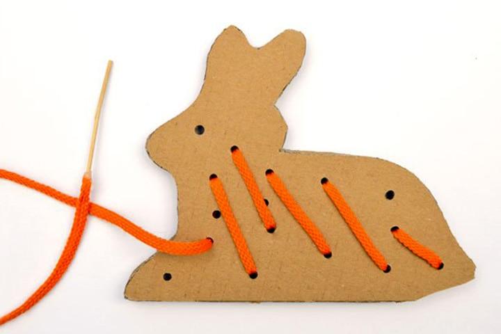 Cardboard Box Crafts For Kids - Cardboard Bunny