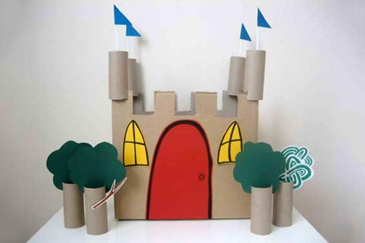 Cardboard Box Crafts For Kids - Cardboard Castle