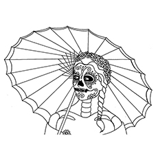 skull coloring pages catrina