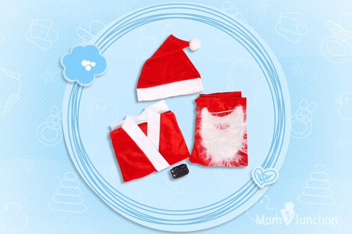 Christmas Dresses For Toddlers - Christmas Costume 5 Piece Set Santa Claus Dress