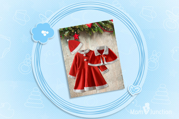 Christmas Dresses For Toddlers - Christmas Santa Claus Costume With Cape