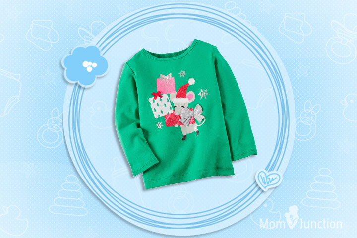 Christmas Dresses For Toddlers - Christmas Tee Featuring Christmas Presents