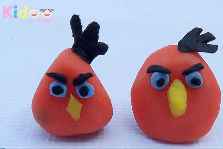 Charming Clay Craft Ideas For Kids Part - 2: Clay Crafts For Kids - Clay Angry Birds
