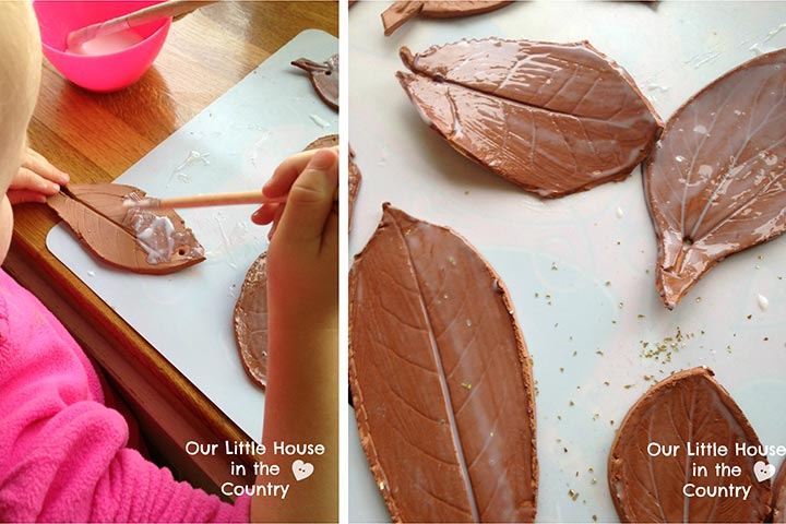 Clay Crafts For Kids - Clay Leaves