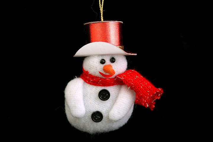 Collage Ideas For Kids - Cotton Wool Pad Snowman Collage