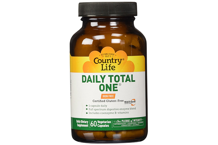 Country Life Daily Total One Maxi-Sorb Multivitamins (With Iron)