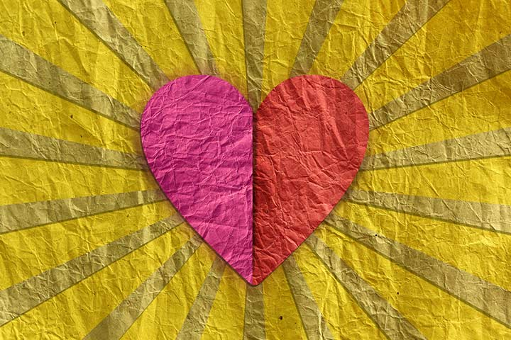Recycled Crafts For Kids - Crumpled Heart