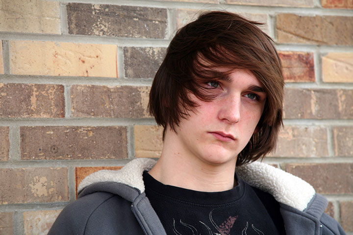 Long Hairstyles For Teenage Guys - Cute Long Bang Hairstyle