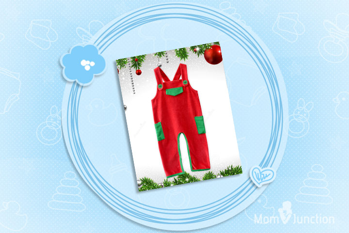 Christmas Dresses For Toddlers - Cute Red Dungaree