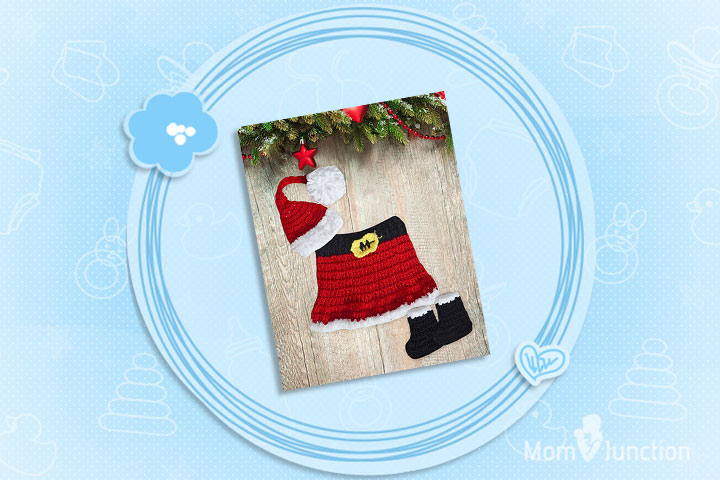 Christmas Outfits For Babies - Cute Santa Crochet Set Costume