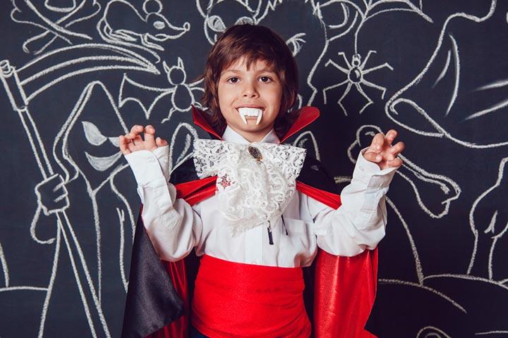 DIY Dracula costume
