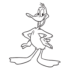 Daffy Duck Coloring Pages - Daffy