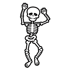 dancing skeleton - Skeleton Coloring Sheets