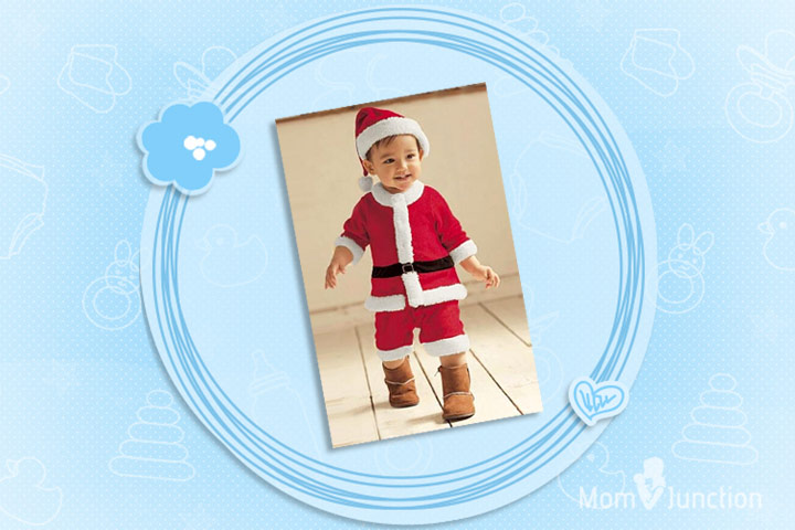 Christmas Outfits For Babies - Double Breasted Red And White Romper For Santa Claus Costume