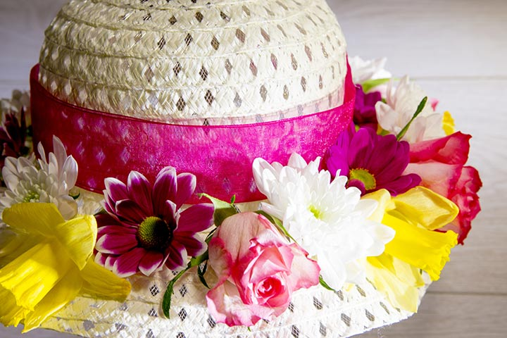 Easter Flowered Ribbon Hat