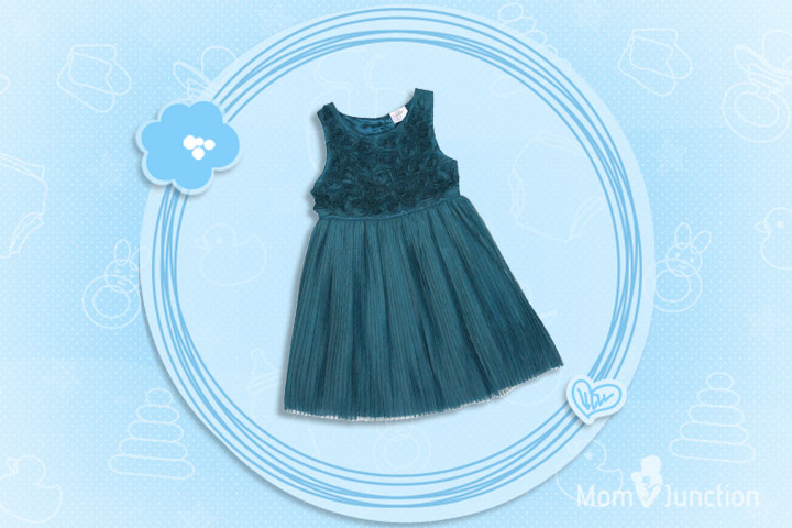 Christmas Outfits For Kids - F&F Signature Rose Corsage Dress