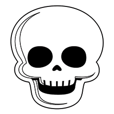 Skeleton Head Coloring Pages - Get Coloring Pages | 230x230