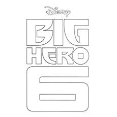Big Hero 6 Film Logo Coloring Pages