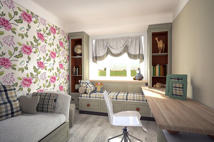 Floral room design