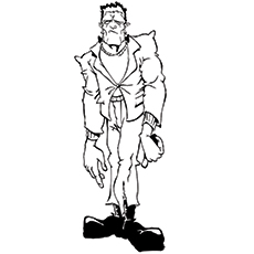 zombie frankenstein coloring page - Frankenstein Coloring Page