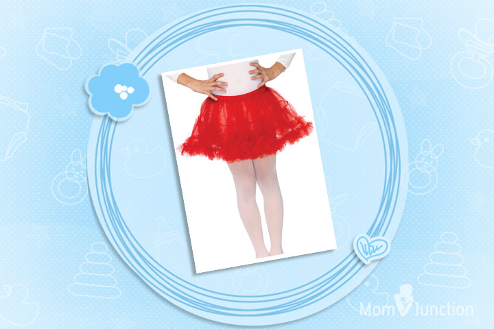 Christmas Outfits For Kids - Girl's Red Petticoat