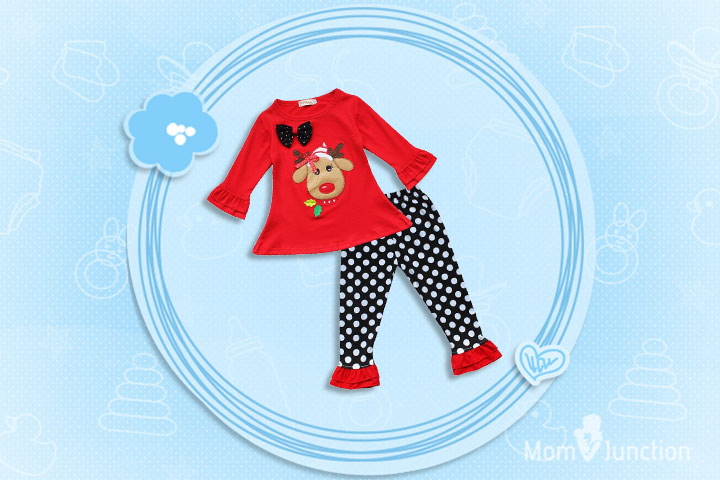 Christmas Outfits For Kids - Girls Adorable Reindeer Outfit