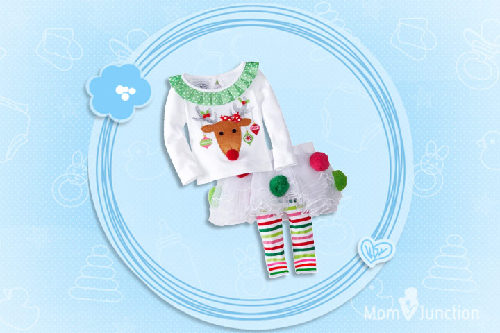 Christmas Outfits For Kids - Girls Cartoon Christmas Outfit
