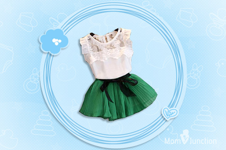 Christmas Outfits For Kids - Girls Lace And Chiffon Christmas Dress