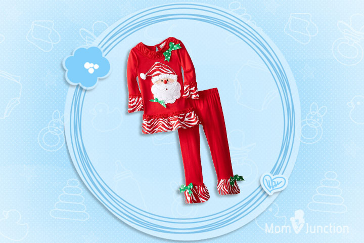 Christmas Outfits For Kids - Girls Santa Snowman Outfit