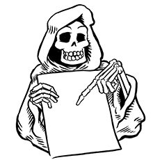 Skull Coloring Pages - Grim Reaper
