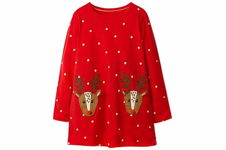 Hileelang Toddler Girl Christmas Outfit Dress