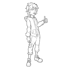 Hiro Hamada Is A Genius And Leader Of Big Hero 6 Coloring Pages