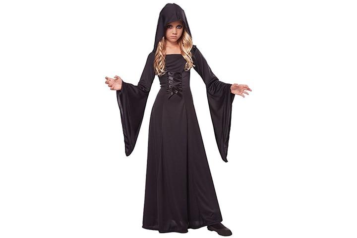 Hooded robe vampire dress