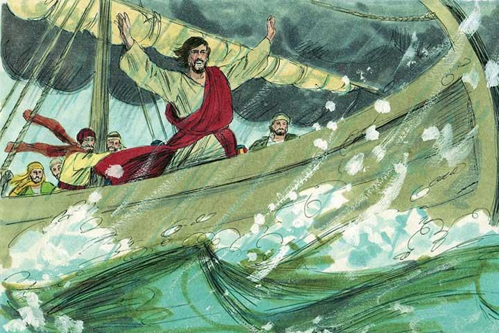 Jesus Stops A Storm